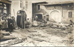 BULLIGNY. ORAGE DE GRELE DU 3/06/1913. CARTE PHOTO - Autres Communes