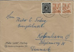 Cover Sent To Denmark  1948.  H-266 - Amerikaanse, Britse-en Russische Zone