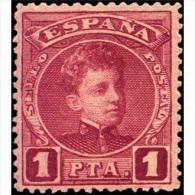 ES253STV-LFT**253TIJSC.CADETE.España. Spain.Espagne.Rey Alfonso Xlll Joven.1901/5.(Ed 253*)con  Charnela. - Sin Clasificación