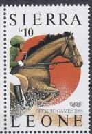 1988 SIERRA LEONE   ** MNH �quitation horse riding Reiten Pferd H�pica [DK20]