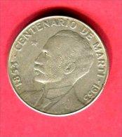 1 PESO MARTI 1953  ( KM  29) TB+ 32 - Cuba