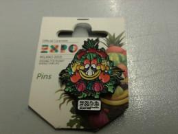 Pin042 Pins Spilla Foody Mascotte, Expo 2015 Milano, International World Exposition Food, Alimentazione, Cibo - Alimentación