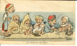 CPA  Illustration Les Clients Du Café Maure  12530 - Chagny