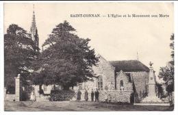 CPA 22 Saint Conan L'eglise Et Le Monument Aux Morts - France