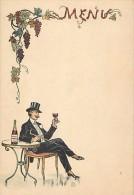 Themes Div -ref L369- Dessin Illustrateur - Menu -petit Plan Bouteille De Vin Auguste Moreau A Beaune - Cote D Or  - - Ilustradores & Fotógrafos