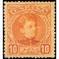 ES255STV-LFT**255TCFR.CADETE.España. Spain.Espagne.Alfonso Xlll Joven.1901/5.(Ed 255*)con  Charnela. - Familias Reales