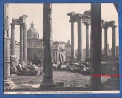 Photo Ancienne - ROME / ROMA - Foro Romano - Tempio Di Saturno Di Vespasiano E Circo Di Settimio Serveo - Lugares