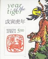 South Africa 1998 Year Of The Tiger M/s ** Mnh (26233) - Blokken & Velletjes