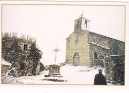 Hiver La Neige Tombe Sur L Eglise De La Laiterie De Blanc  Peux Et Couffouleux Aveyron - Otros Municipios