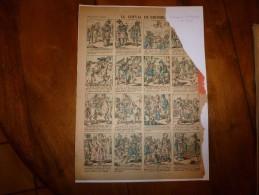 Vers 1900  Imagerie D'Epinal  N° 863           LE CHEVAL DE BRONZE .                    Imagerie Pellerin - Vieux Papiers