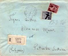 ITALIA  Storia Postale  Democratica  Lire  10 + 2    Cosenza  12 -  3 - 1946 - 6. 1946-.. Repubblica