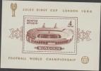 O) 1966 MONGOLIA, FOOTBALL WORLD CUP ENGLAND, JULIES RIMET CUP LONDON, SLIGHT TONED,SOUVENIR MNH - Mongolia