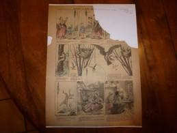 Vers 1900  Imagerie D'Epinal  N° 384  COMMENT UN REPAS MAIGRE FUT MANGE GRAS  Signé P Dous Y' Neu - Verzamelingen