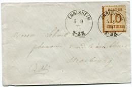 ALSACE-LORRAINE LETTRE DEPART ENSISHEIM 5-9-71 POUR STRASBOURG - Alsace Lorraine