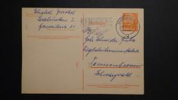 Germany - Saarland - 1957 - MI: P 43 - Used - Postal Stationary - Look Scan - Enteros Postales
