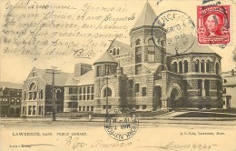 LAWRENCE PUBLIC LIBRARY LIBRAIRIE AMERIQUE ETATS UNIS MASSACHUSETTS UNITED STATES OF AMERICA - Lawrence