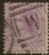 NZ 1874 1d Lilac QV SG 166 U #QM211 - 1855-1907 Crown Colony
