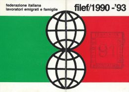 TESSERA FILEF FEDERAZIONE ITAL LAVORATORI EMIGRATI E FAMIGLIE 1991 - Documenti Storici