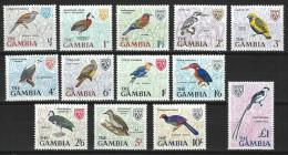 Gambia Mi 210-22, SG 233-45 ** MNH - Oiseaux