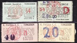 TICKET - FOOTBALL - VOETBAL / S.K. TONGEREN - PATRIA  F.C. TONGEREN . Stamnrs. 54 & 71 - Tickets D'entrée
