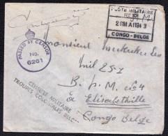 A VOIR ! S.M. CENSOR 6261 POSTE MILITAIRE nr. 101 - CONGO BELGE 1943  + CENSURE MILITAIRE TROUPES COLONIALES BELGES