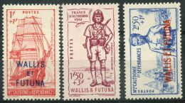 Wallis Et Futuna (1941) N 87 à 89 *  (charniere)