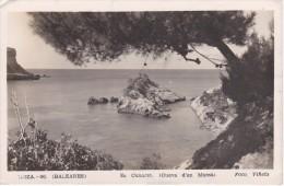 96 POSTAL DE IBIZA DE ES CANARET (CUEVA D'EN MARSA) DEL AÑO 1953 (FOTO VIÑETS) - Ibiza