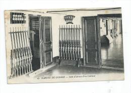CPA Marine De Guerre Salle D'armes D'un Cuirassé Cachet Brest Arsenal 1919 + Marine Nationale Pour Thones 74 - Guerra