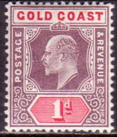 GOLD COAST 1906 SG #50a 1d MNH Wmk Mult Crown CA Challk-surfaced Paper CV £14 For Hinged - Gold Coast (...-1957)