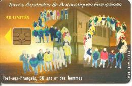 CARTE PUCE-GEM4-TAAF24-50U-50é MISSION De KERGUELEN-TRES RARE - TAAF - French Southern And Antarctic Lands