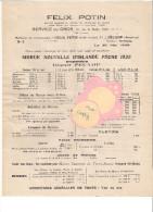 76 Fécamp  75 Paris, 131 Rue De Flandre,Félix Potin Service Du Gros Tarifs Morue D´Islande 30 Mai 1928 - Francia