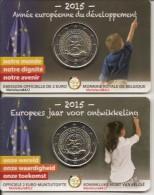 RARE COINCARD DE 2 EURO COMMEMORATIVE BELGIQUE 2015 DEVELEPPEMENT UNC - Belgique