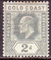 GOLD COAST 1909 SG #61 2d MLH Wmk Mult Crown CA Slightly Toned - Gold Coast (...-1957)
