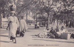 Au - Cpa Sénégal - Saint Louis - Marchands Nègres  (précurseur) - Senegal