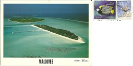 MALDIVE  Holiday Island Dhiffushi   Nice Stamps  Fish And Bird Theme - Maldive