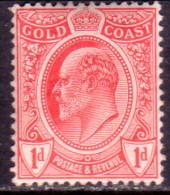 GOLD COAST 1908 SG #70 1d MNH Wmk Mult Crown CA - Gold Coast (...-1957)