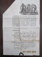 GIBRALTAR - Sir Robert Thomas Wilson, Governor Sign 1848 Bill Of Health To Ship Proceed To CANARY ISLANDS - Documentos Históricos