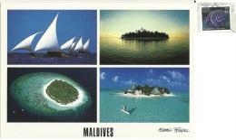 MALDIVE  Atolls  Dhonis   Nice Stamp - Maldive
