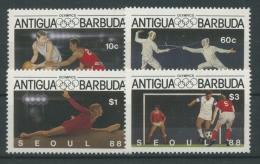 Antigua 1987 Olympiade Seoul 1020/23 Postfrisch - Antigua Und Barbuda (1981-...)