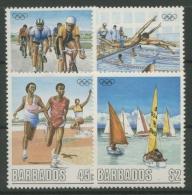 Barbados 1988 Olympiade Seoul 701/04 Postfrisch - Barbados (1966-...)