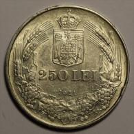 """Roumanie Romania Rumänien 250 Lei 1941 """""""" TPT """""""" Argent Silver  # 6 - Rumania"""