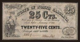 North Carolina, 25 cents, 1863