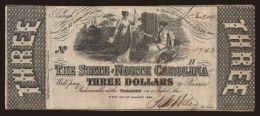 North Carolina, 3 dollars, 1863
