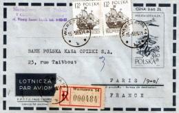 Lettre Recommande De Pologne  A La France - Covers & Documents