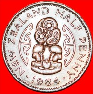 ★DRESSED QUEEN: NEW ZEALAND ★ 1/2 PENNY 1964! LOW START★ NO RESERVE! - Nouvelle-Zélande