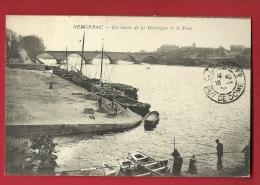 MBL-14  Bergerac  Les Bords De La Dordogne Et Le Pont, Cachet Frontal 1909 - Bergerac