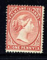 1891  Victoria   1d.  Venitian Red  SG 22  MM - MH - Falkland Islands