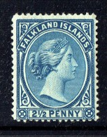 1891  Victoria   2½d.   Prussian Blue  SG 29   MM - MH - Falkland Islands