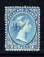 1891  Victoria   2½d.   Ultramarine   SG 30   MM - MH - Falkland Islands