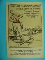 LM115-Emprunt National 1920 Banque Général Du Nord, Rue Royale Lille (Anc. Verley, Decroix) Illustration CASTRO - Lille